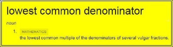 The Lowest Common Denominator HIGHLIGHT YELLOW