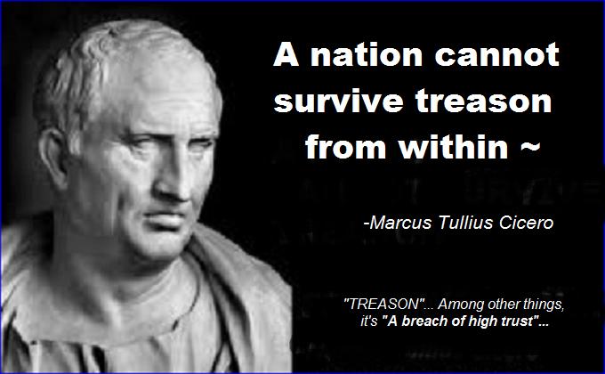 TREASON Cicero breach of high trust