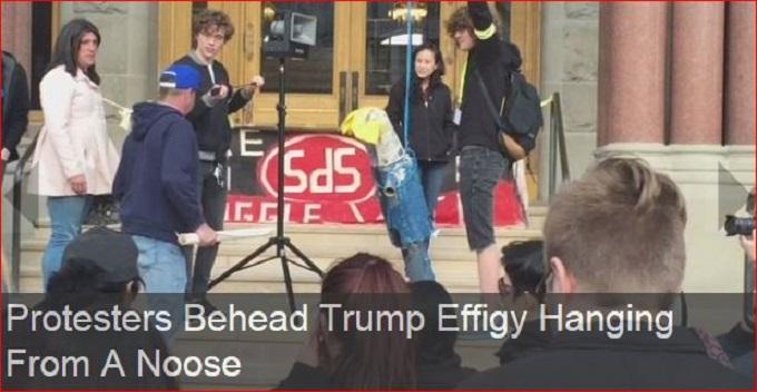 Trump beheading screenshot