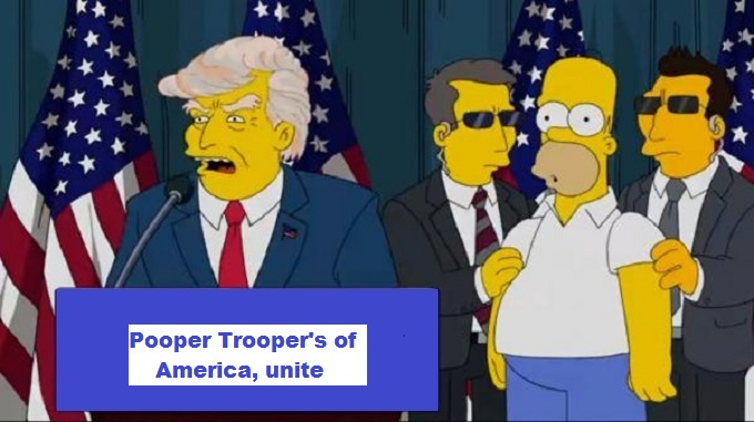 Trump election Homer Pooper Trooper's