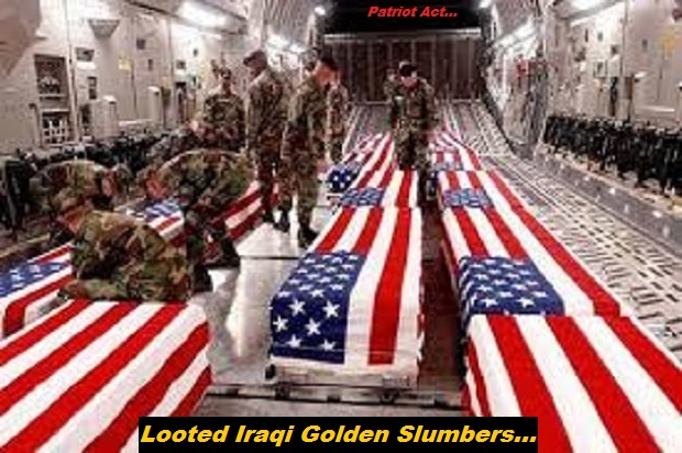 WHACK ~ US ARMY COFFINS LOOTED IRAQI Golden Slumbers