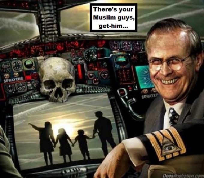 Captain Rumsfeld Muslim auto pilot get him