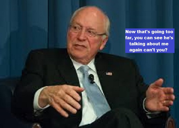 Cheney Slap going too far