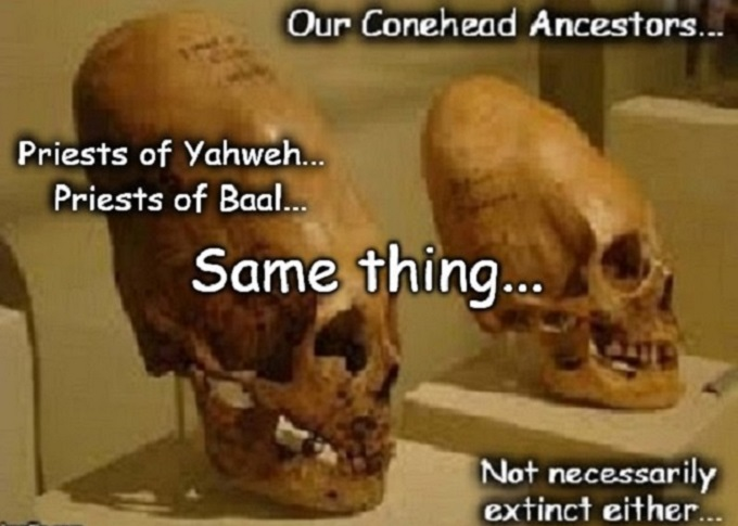 Conehead priest Zionist