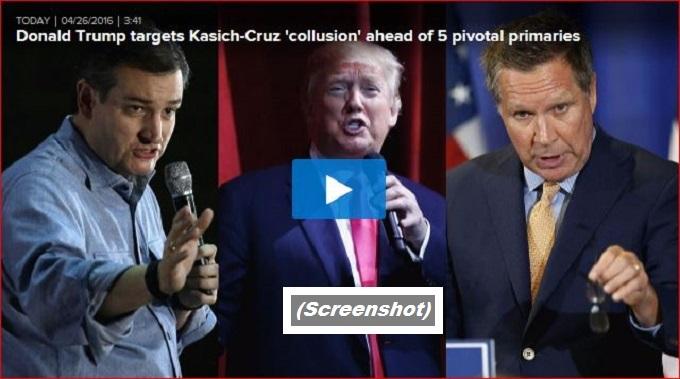 Cruz Trump Kasich fake