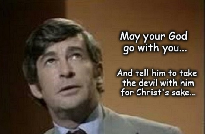 Dave Allen god devil for Christ's sake