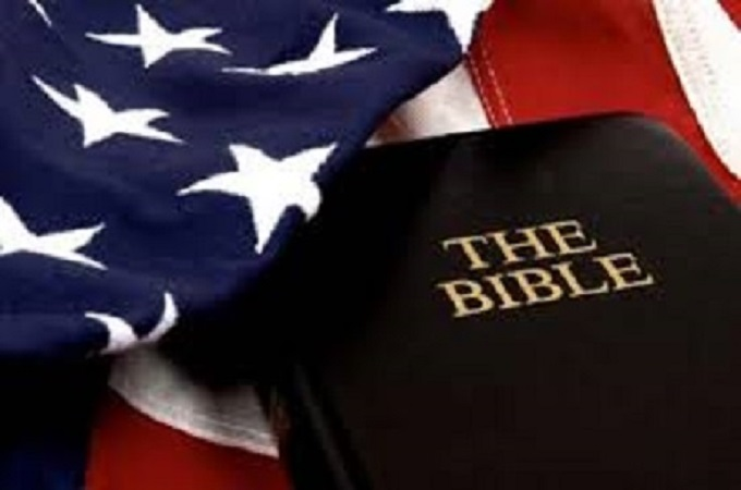 Flag and bible ~