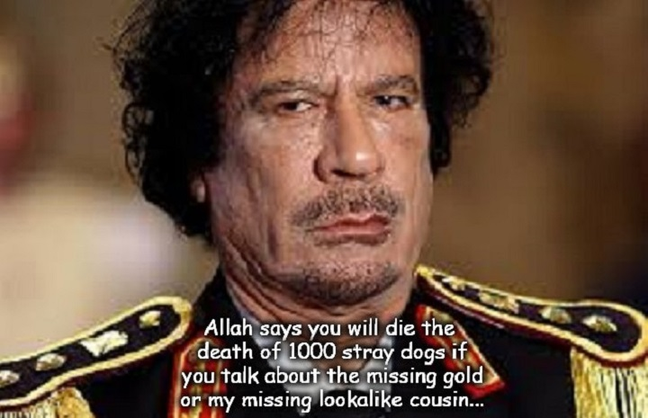 Gaddafi Gold MISSING cousin lookalike 720