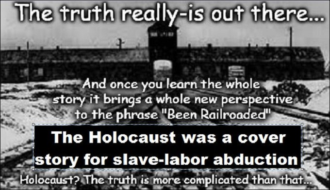Holocaust railroaded black and white