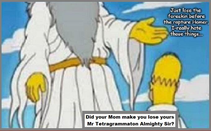 Homer Tetragramatton Foreskin