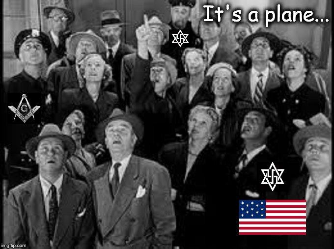 It's a plane American flag Mason Nazi