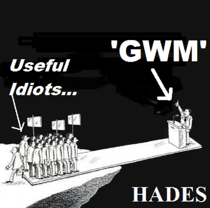 Most people ~ Hades ~ Masons ~ Useful idiots ~
