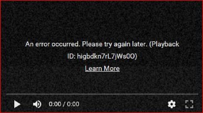 Operation Error Screenshot