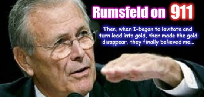 Rumsfeld lead gold god 911