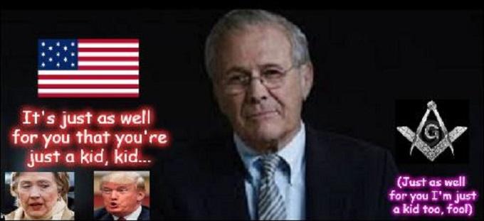 Rumsfeld Trump Clinton Mason