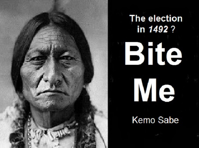 Sitting Bull American Indian Bite Me