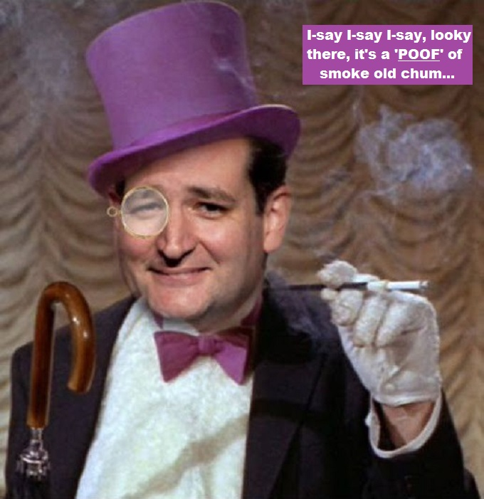 Ted-Cruz-Penguin poof of smoke