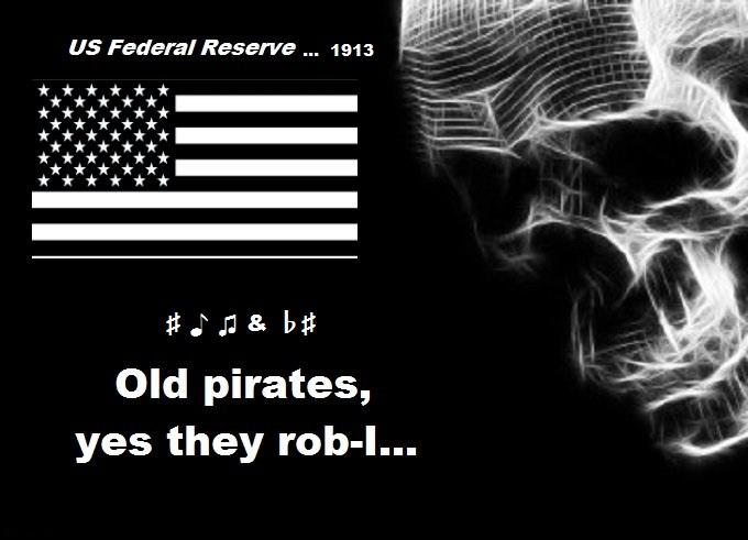 US Fed skull old pirates