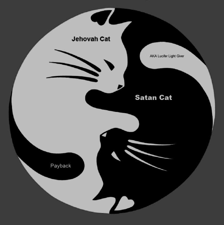 Yin Yang Jehovah x Satan cat
