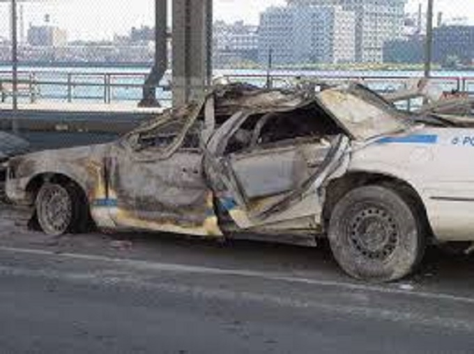 911 another melted ccop car