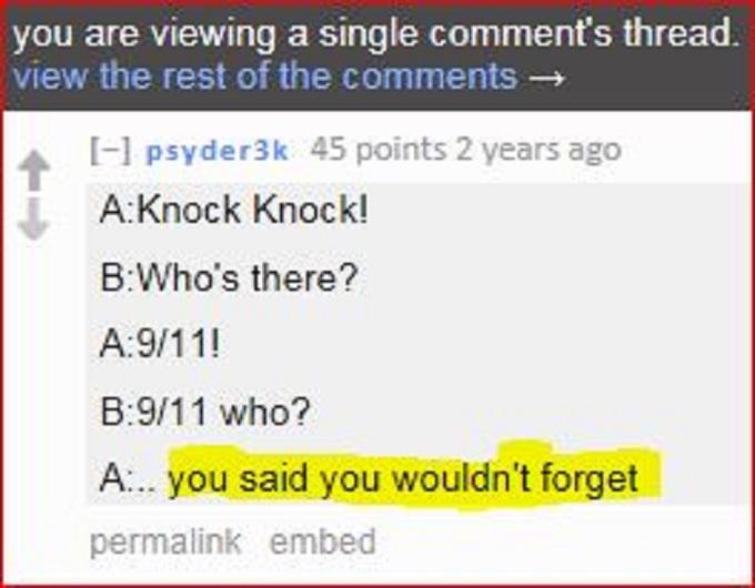 911 joke