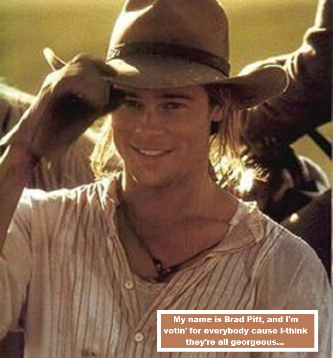 Brad Pitt ~ Cowboy voting for everybody