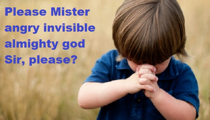 child-praying please MIster GOD SIR