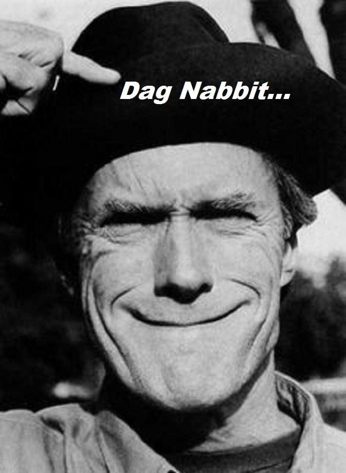 Clint Eastwood gummy smile Dag Nabbit