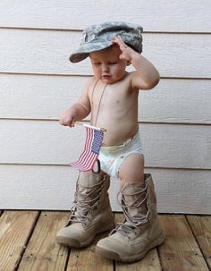 Cute Marine baby