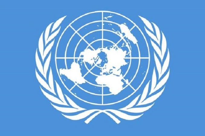 Earth UN Map blue