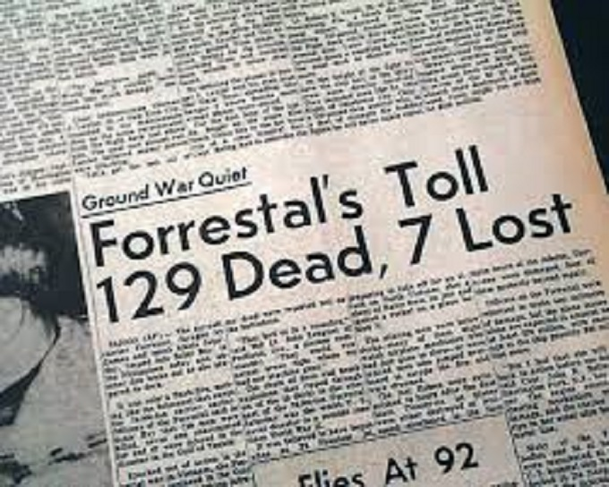Forrestal 129 dead 6 lost