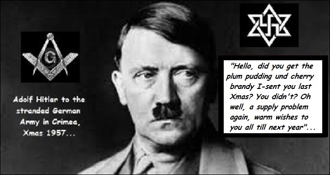 Hitler Xmas wishes MASON SWATIKA ZION
