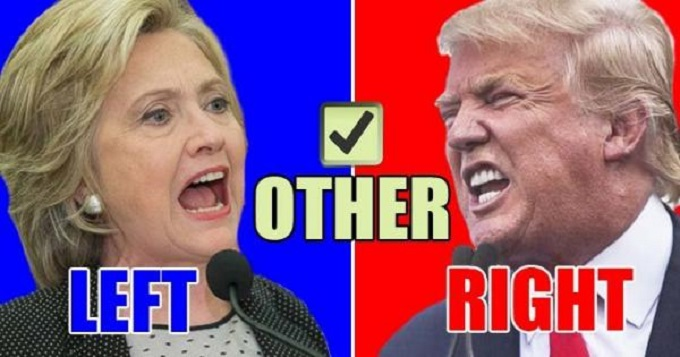 Left Right Other Hillary Trump