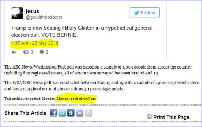 PP Date and Twitter Trump and Hillary HIGHLIGHT BOTH DATES