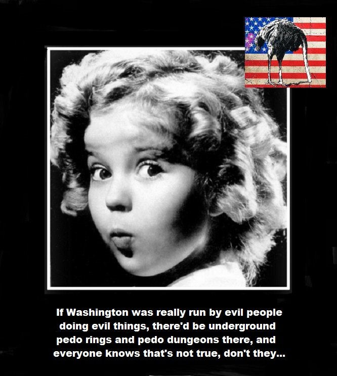 Shirley Temple Washington pedo evil Emu flag