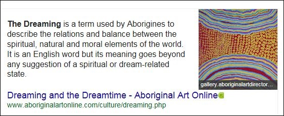 The dreaming meaning