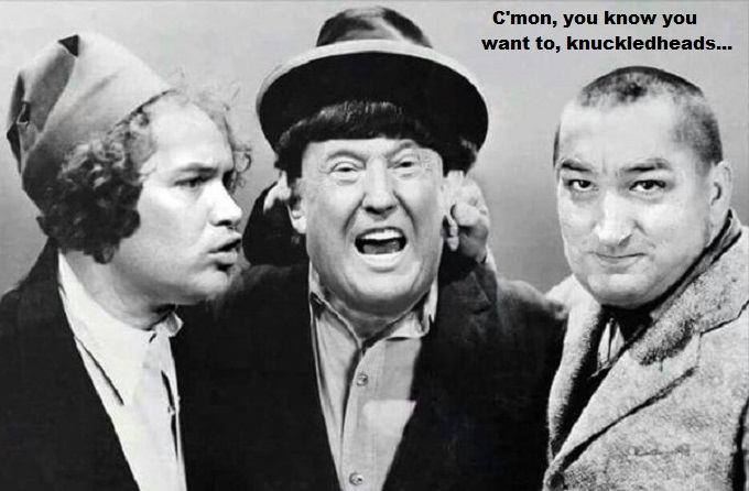 Three Stooges Cruz Trump Rubio Knuckleheads