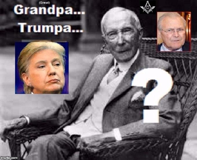 TRump Clinton Rockefeller Rumsfeld
