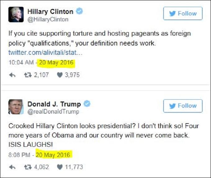 Trump Clinton Twitter PP bullshit