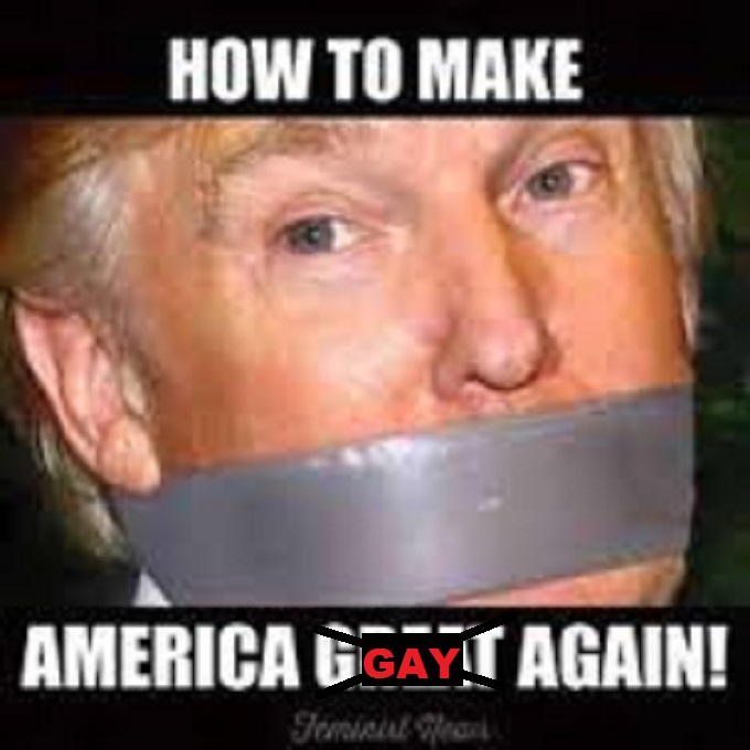 Trump how to make America gay again