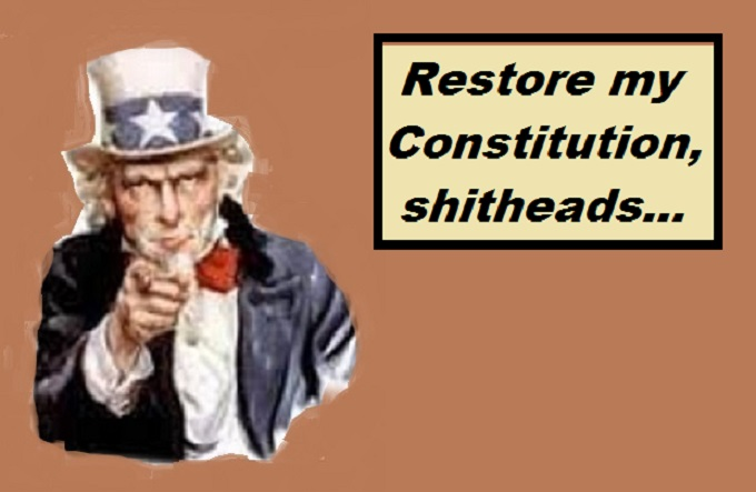 Uncle Sam restore my constitution