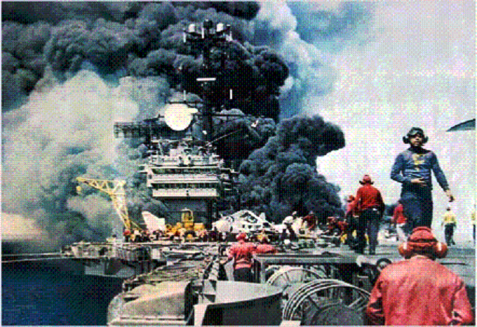 USAS Forrestal Fire