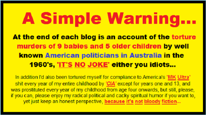 Warning ~ It's not bloody fiction