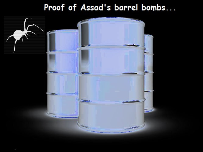 White Spider McCain's barrel bombs