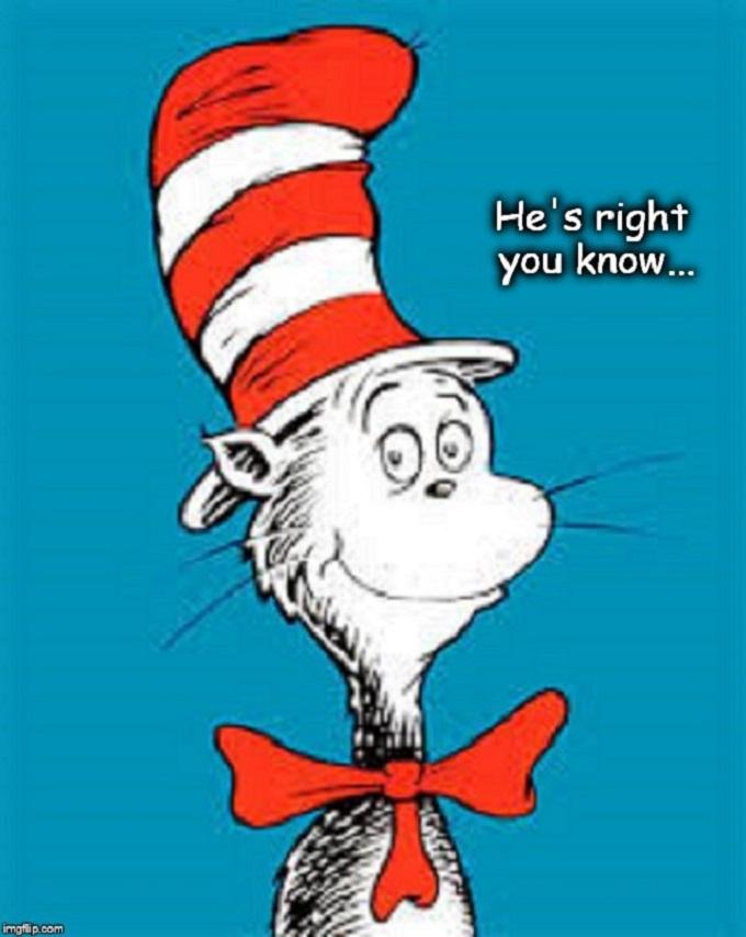 Zeus Seuss Cat ~ He's right