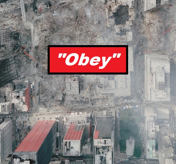 911 attack sky shot ~ OBEY