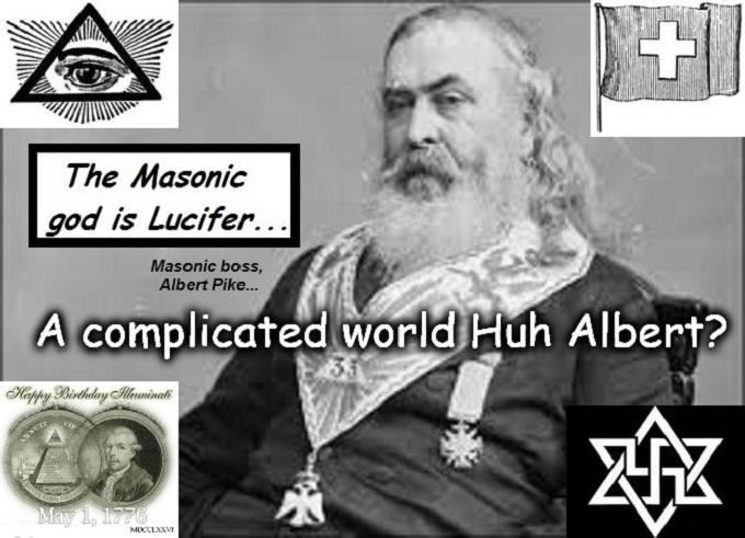Albert Pike COMPLICATED Masonic boss