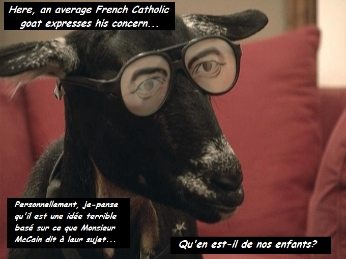 An average French Catholic goat