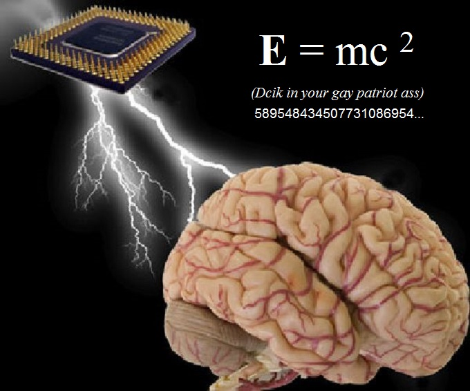 Computer chip electric arc patriot brain