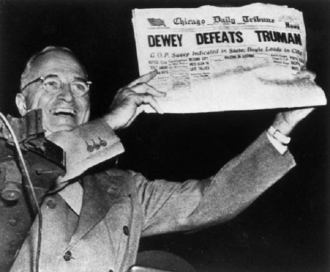 Dewar defeats Truman